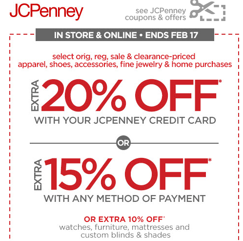 Jcpenney Coupon To Save Up To An Extra 20 Off Jcpenney Coupons Printable Coupons Free Printable Coupons