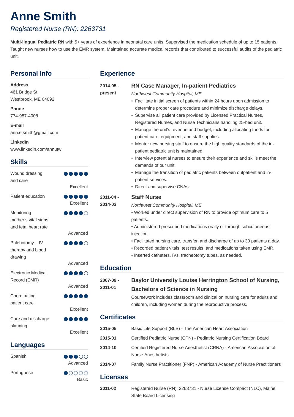 nursing resume template simple in 2020 Nursing resume