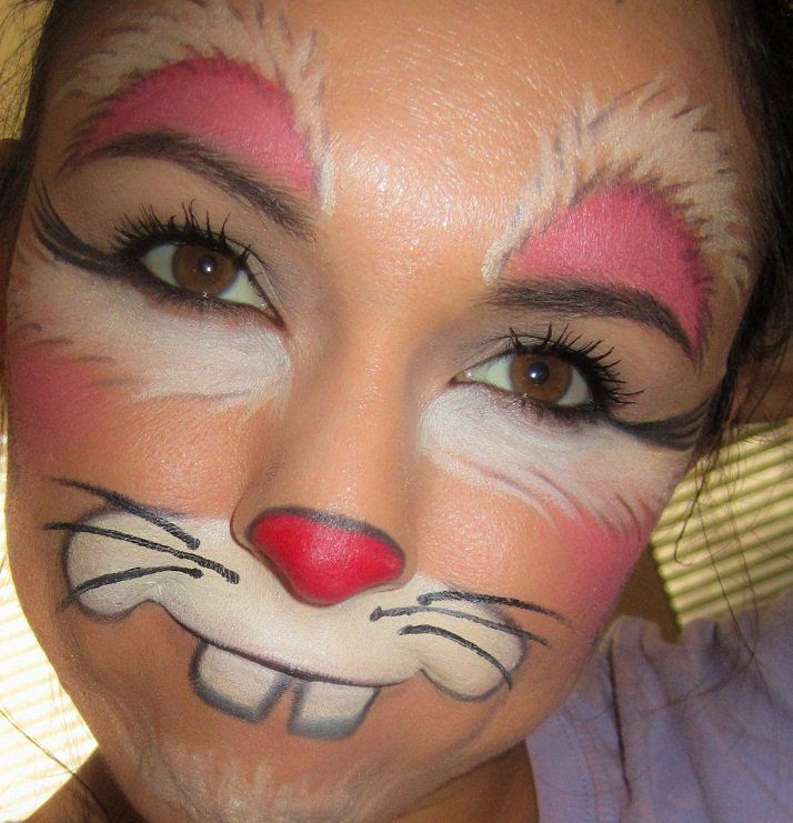 Bunny art face painting pretty makeup fantasy maquillaje for Pretty designs to paint