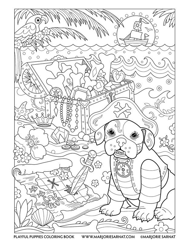 Pirate Pup : Playful Puppies Coloring Book by Marjorie ...
