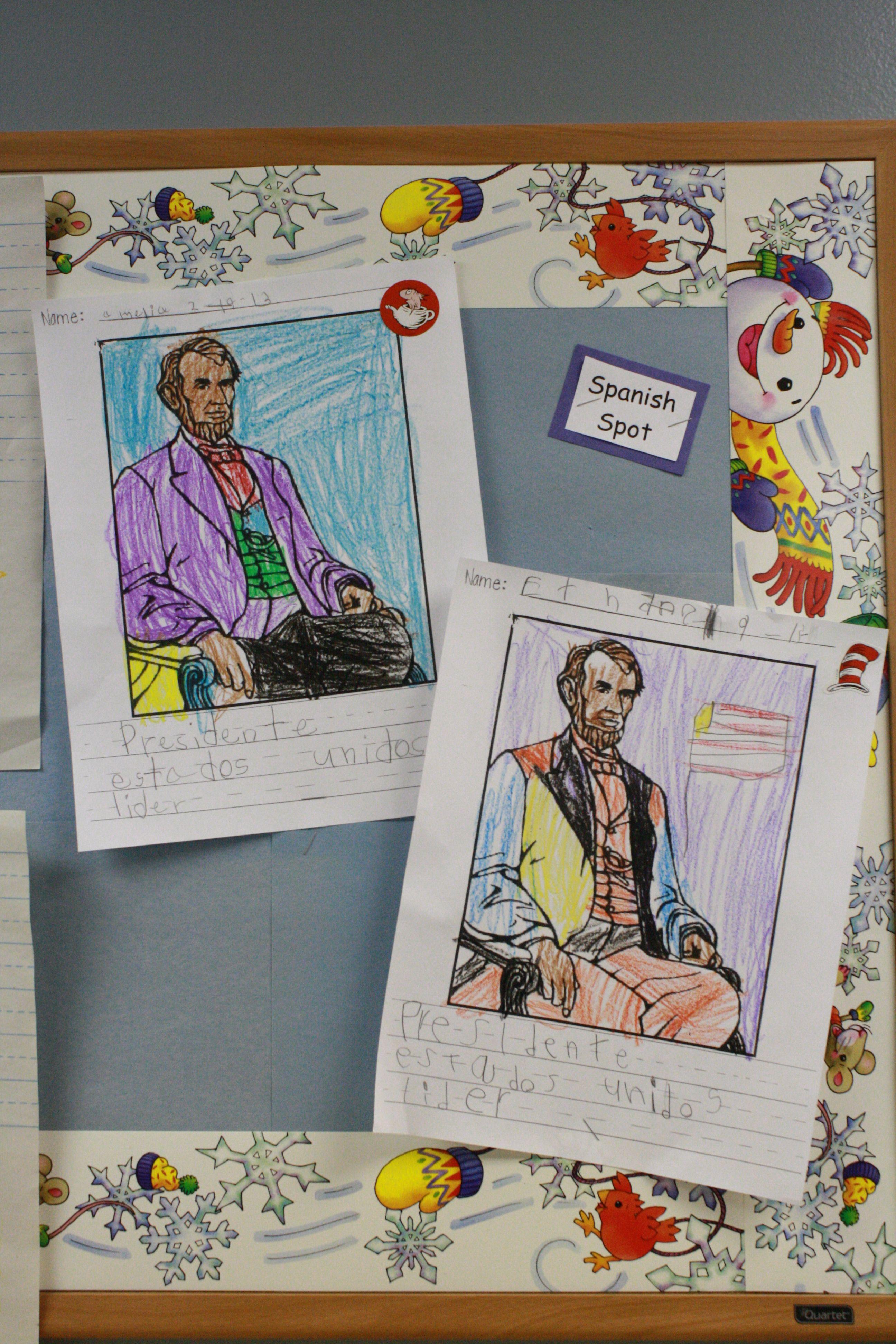 Abraham Lincoln Spanish Lesson In Kindergarten