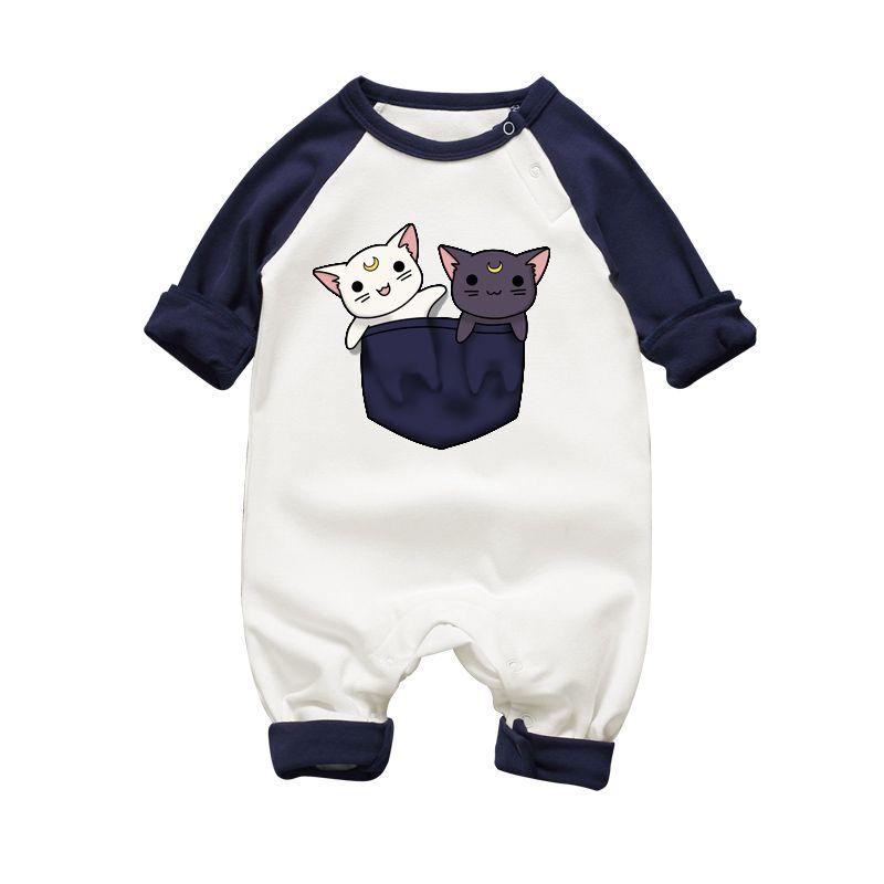 Worth It Y Moon Luna Cat Baby Onesie Bodysuit Newborn Romper