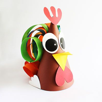 Rooster hat from paper #crazyhatdayideas