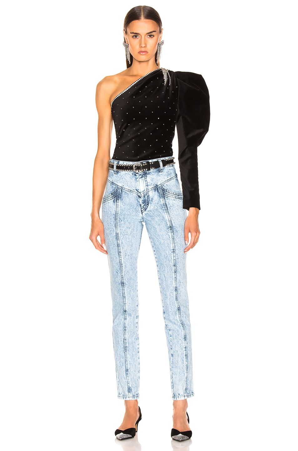 f8005a34e7a Image 4 of Isabel Marant Lorricka Pant in Snow Blue | DENIM ...