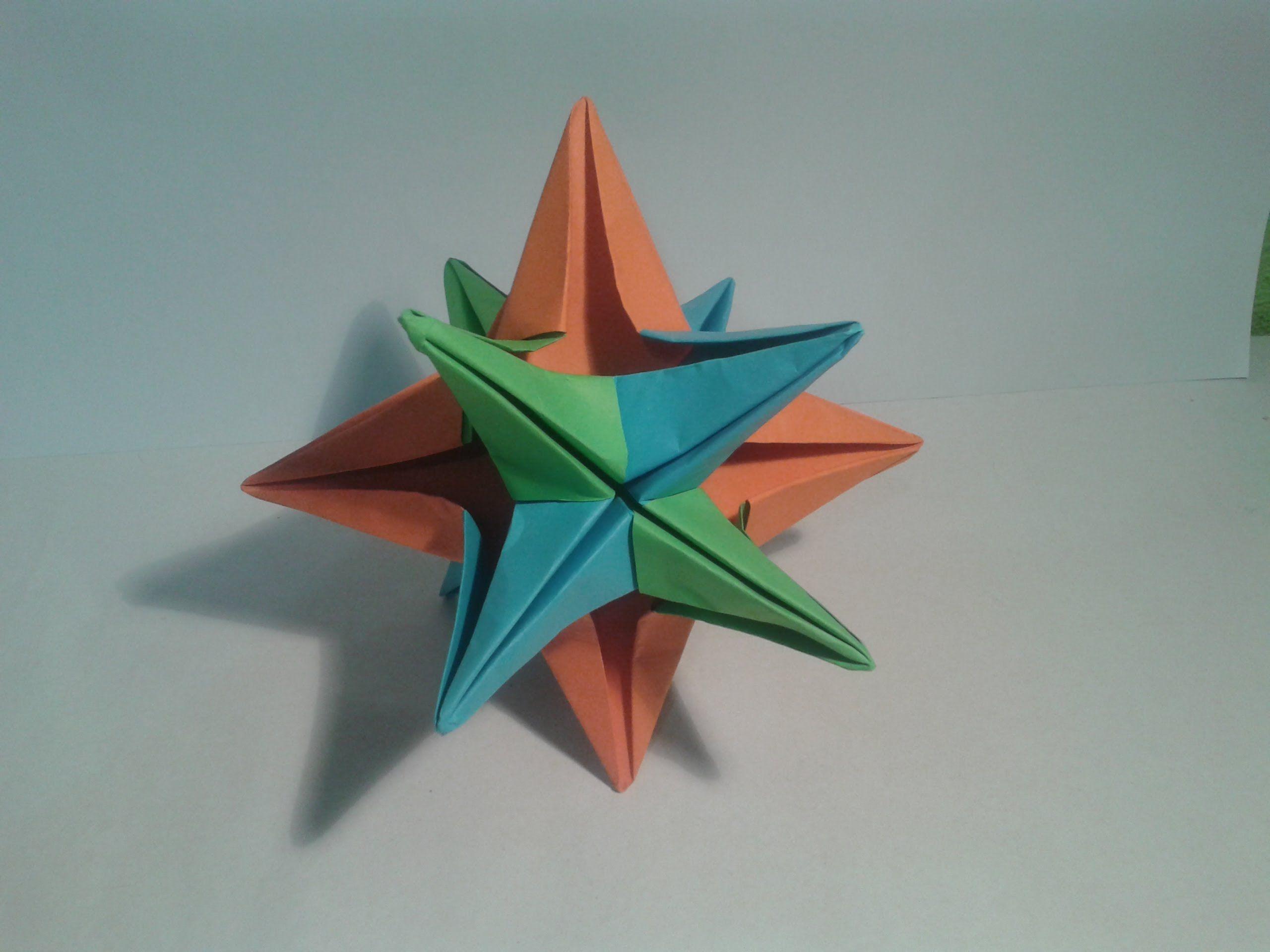 Como Hacer Una Estrella De 12 Puntas Origami Estrellas De Origami Estrella De 12 Puntas Tutorial De Origami