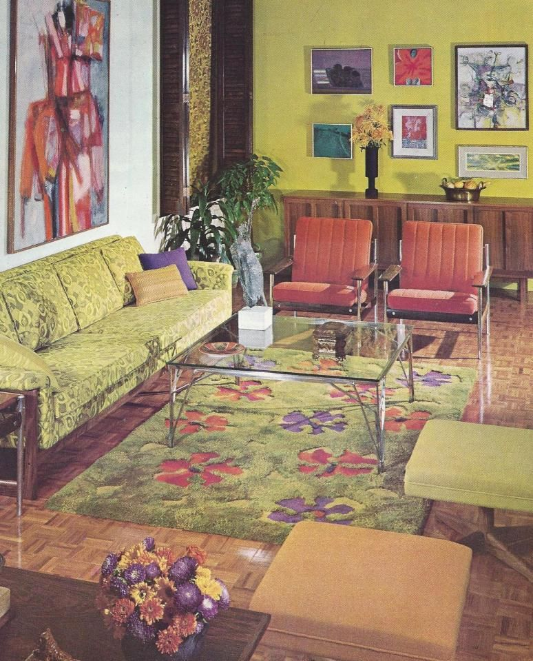 Interior Design Ideas On A Budget Decorating Tips And Tricks: 1960s Home Decor, Retro Style Living Room, Retro
