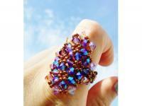 Swarovski crystal beaded ring amatyst extra shinning metallic brown chiiica https://www.kichink.com/buy/797765/chiiica/swarovski-ring-amatyst#.VmHq57iGSko