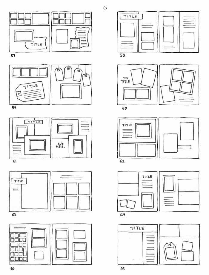 Scrapbook Page Ideas Layouts | here are a few page sketches just for fun sometimes i get scrapbookers ...