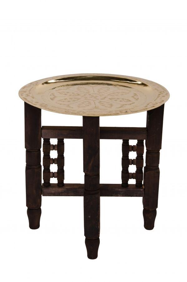 Orientalischer Tisch Mehdia Goldfarbig 40cm Orientalische Tische Marokkanische Teetische Orientalischer Tisch Orientalisch Marokkanischer Tisch