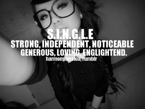 happy being single quotes tumblr - photo #35
