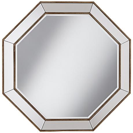 A Visually Striking Beveled Wall Mirror In A Unique