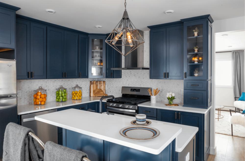 kitchen trend navy blue cabinets blue kitchen cabinets kitchen trends kitchen cabinet doors on kitchen cabinets blue id=11920