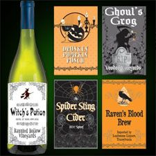 1/2 Price Sale on Halloween Party Bottle Labels #mamp;mcostumediy
