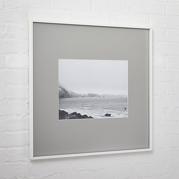 Gallery White 11x14 Picture Frame With Grey Mat Cb2 White Picture Frames 11x14 Picture Frame Unique Picture Frames