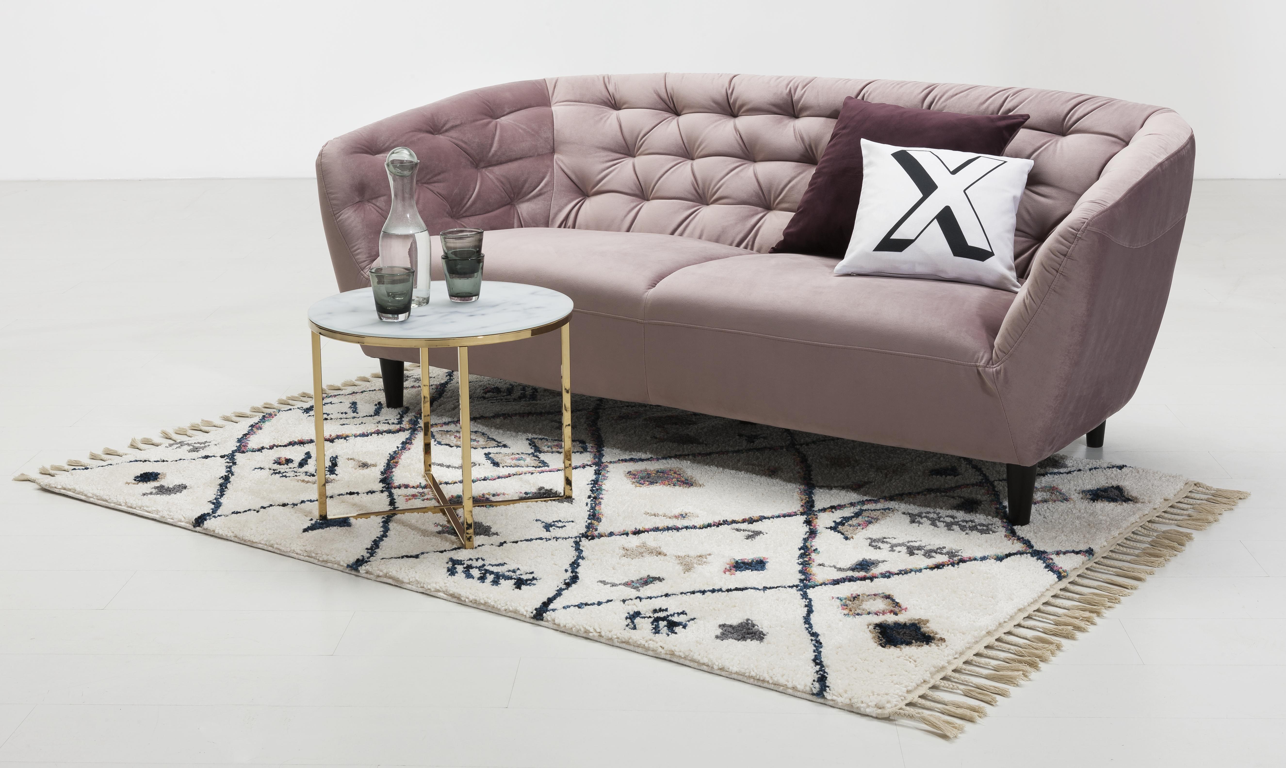Altrosa Satin Sofa In 2020 Sofa Wohnzimmer Altrosa