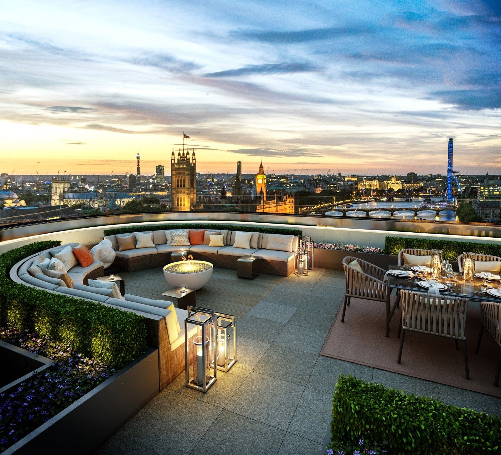 1722 Albert Street Apartments: Rooftop Terrace Design, Penthouse View
