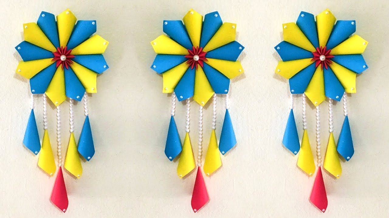 Amazing Diy Paper Wall Hanging Easy Paper Craft Tutorial Som S Happy Craft Amazing Diy Paper Easy Paper Crafts Paper Craft Tutorials Paper Wall Hanging