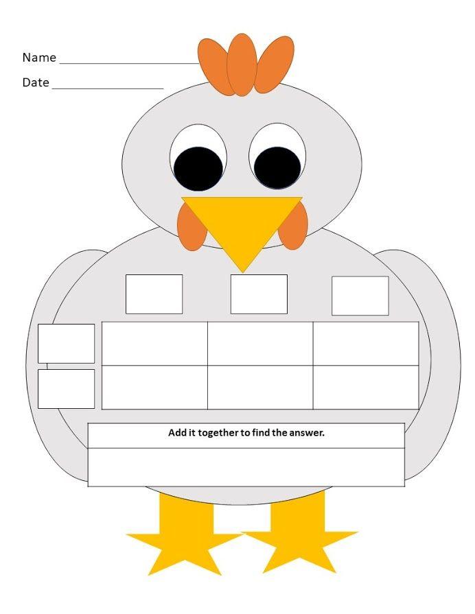Array/Box method multiplication turkey | Pinterest