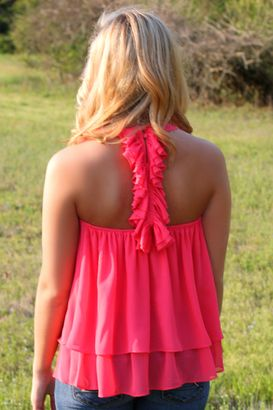 ruffle back tank top. Here the link ladies
