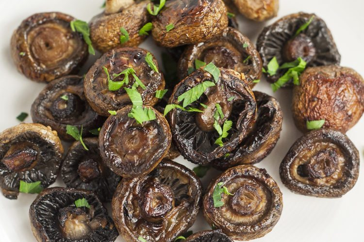 Clean Eating Oven Roasted Mushrooms