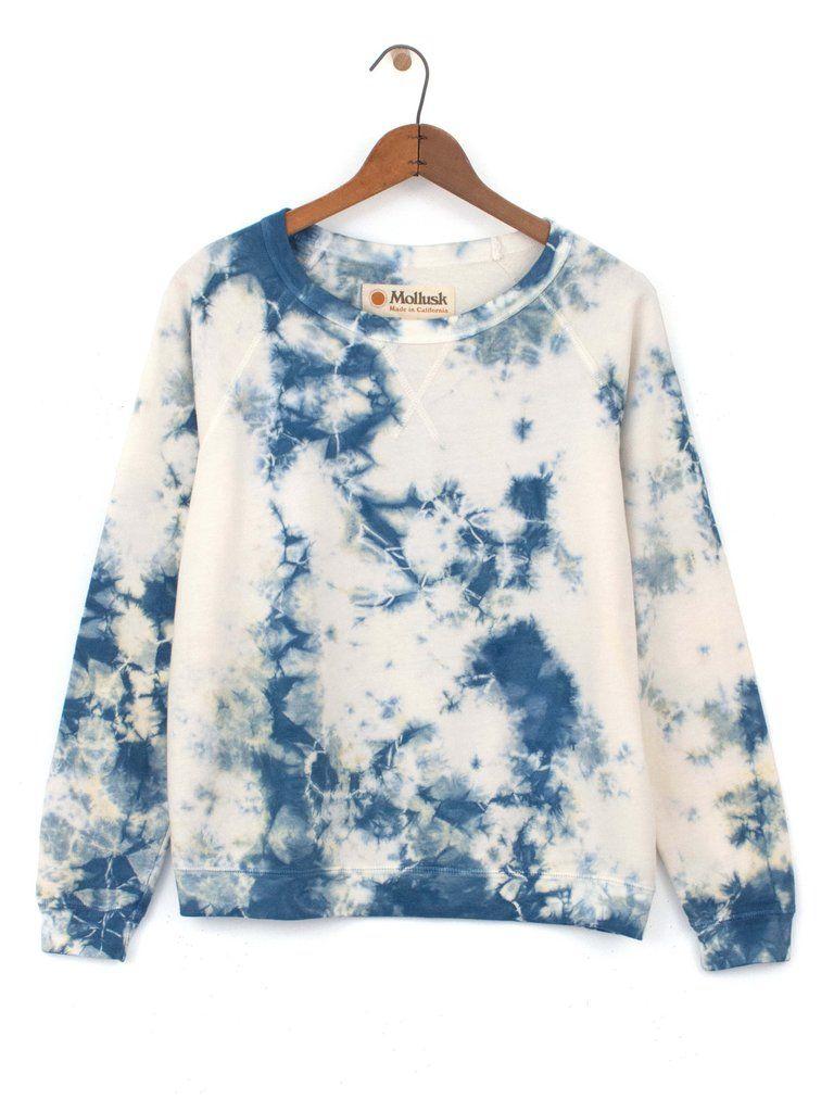 Women S Sweatshirts Surf Made In California Crew Super Soft Indigo Tie Dye Tie Dye Clothes Lovely Clothes [ 1024 x 768 Pixel ]
