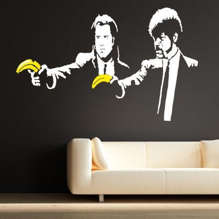 Banksy Pulp Fiction wall stickers   Pinterest   Banksy pulp fiction ...