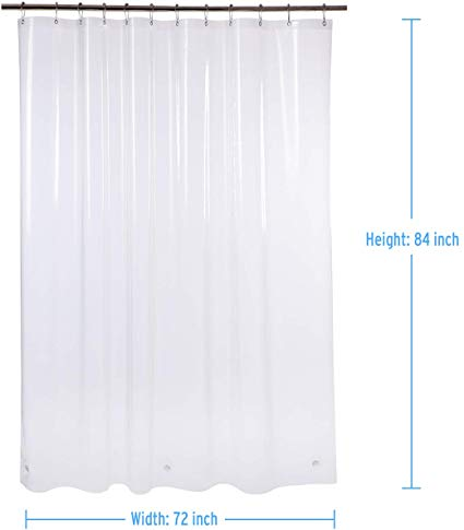 Amazon Com Amazerbath Plastic Shower Curtain 72 W X 84 H Eva