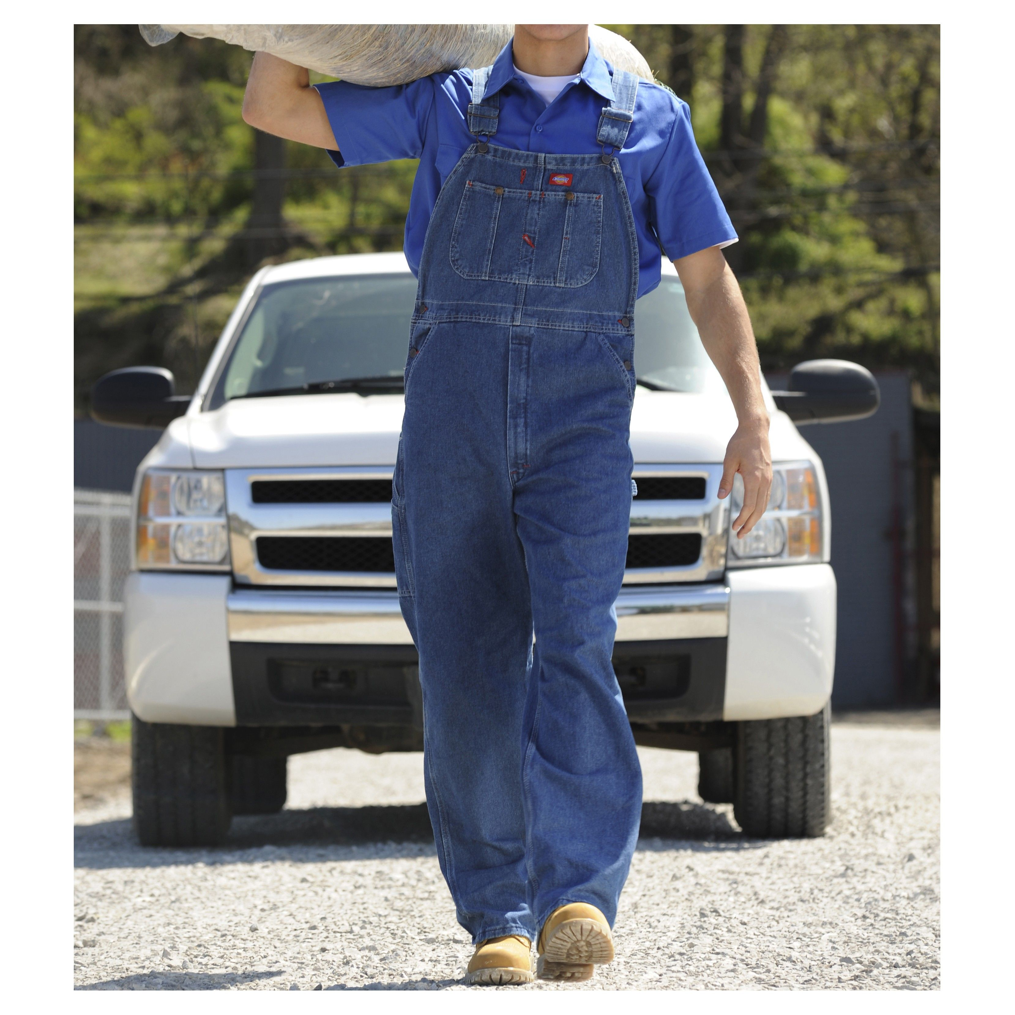 dickies men s stonewashed indigo bib overalls 8396 in on dickies coveralls id=43592