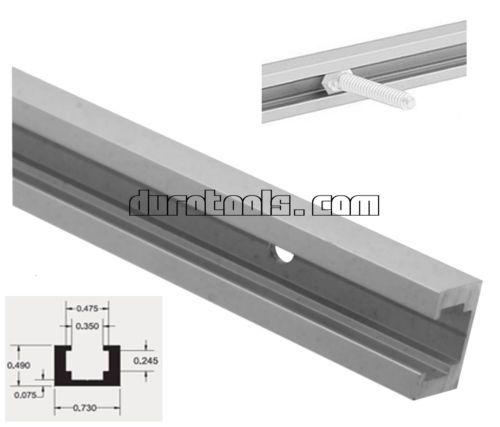25MM Slotted Aluminum Tracks Multi-Purpose Quad Track