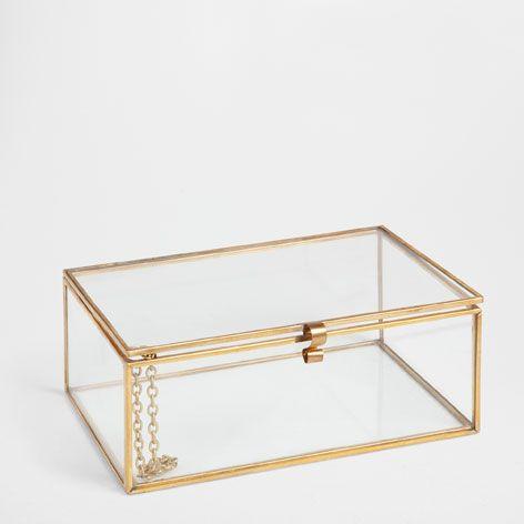 Caja vidrio y metal cajas decoraci n zara home for Decoracion zara hogar
