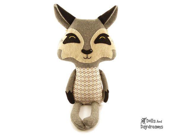 Patron de couture de Wolf PDF farcies jouet bois conte Softie | Nähen