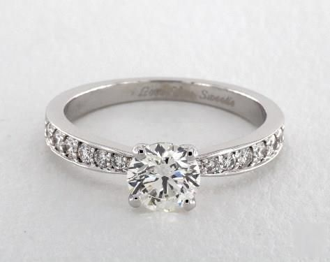 .8ct Pave Round Engagement Ring White Gold