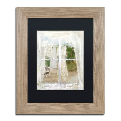 "Trademark Art 'Summer Me IV' Framed Painting Print Size: 14"" H x 11"" W x 0.5"" D, Mat Color: Black"