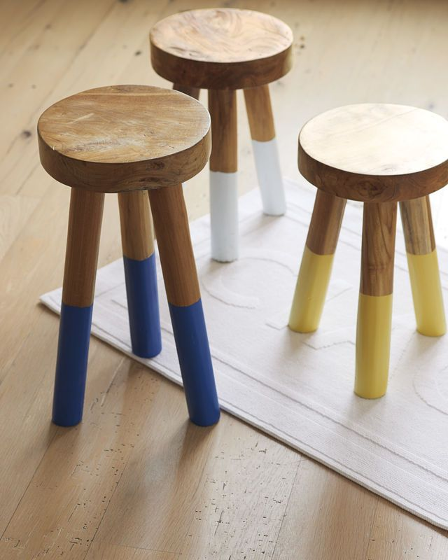 Dip Dyed Stools Dip Dyed Stools Affordable Decor Decor