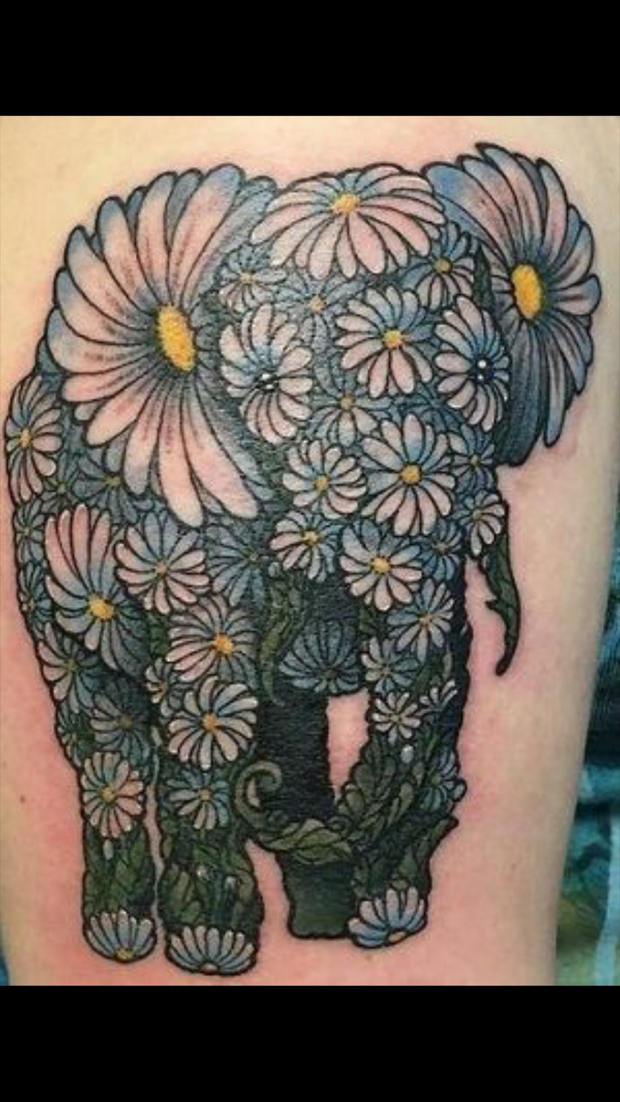 Pin by Anıl Yıldırım on Elephant tattoo ideas Daisy