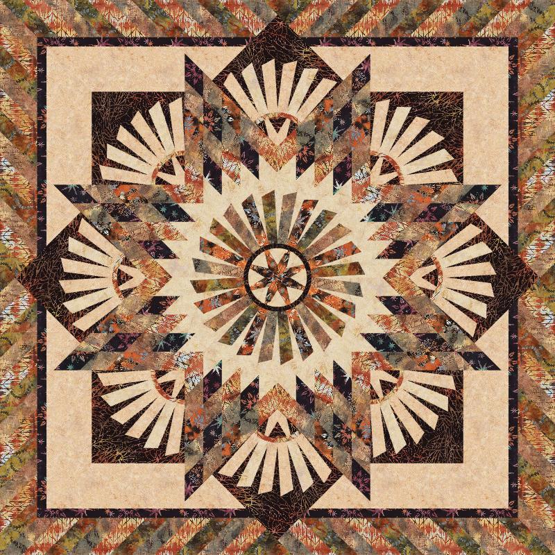 Tarnished Windmill Kit - Fire Colorway | Judy Niemeyer Quilts ... : quilting fabric kits - Adamdwight.com