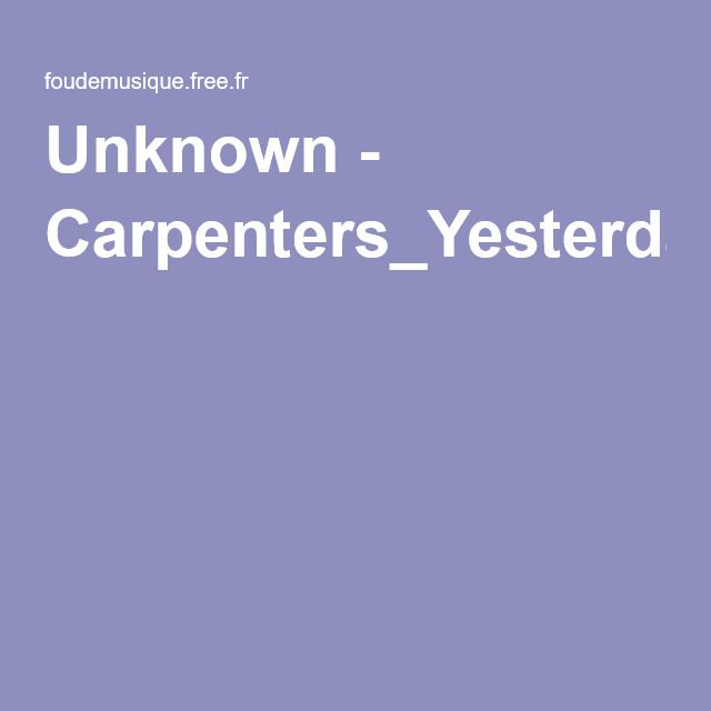 Unknown - Carpenters_YesterdayOnceMore.pdf