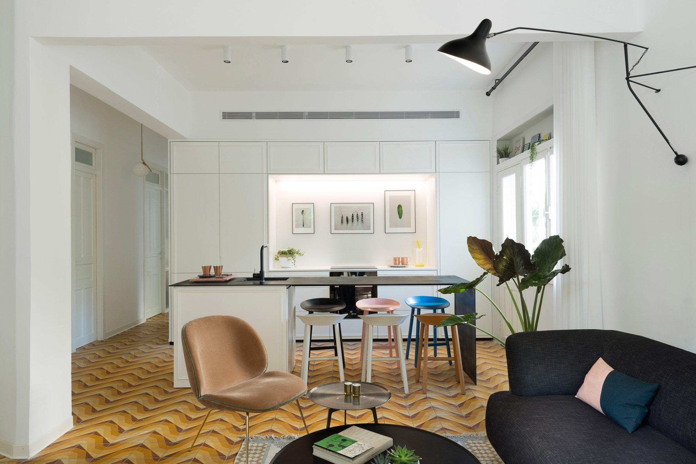 Maayan Zusman and Amir Navon have renovated an apartment with a ...
