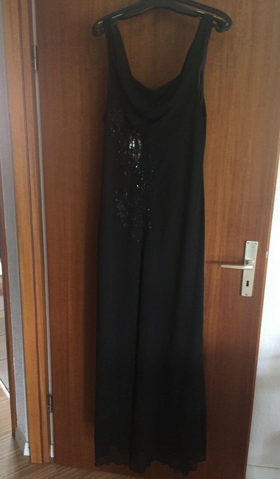 langes schwarzes kleid festliche größe 44 adagio - festliche