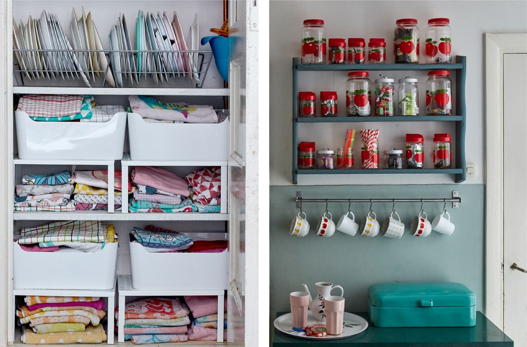 Maximise your shelf space. Add storage rails to keep the work surface clear