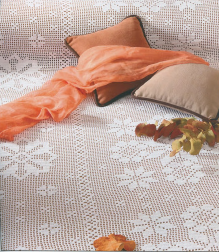 Crochet \'Pleasant Climes\' Bedspread.. free pattern and chart ...