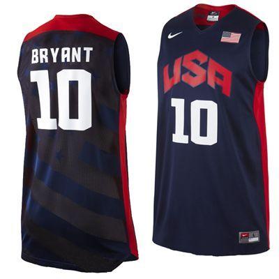 904eac0cf45 ... 10 Kobe Bryant Blue Basketball Jersey Kobe Bryant 2012 London Olympics  Team USA Mens Authentic Basketball Jersey by Nike.