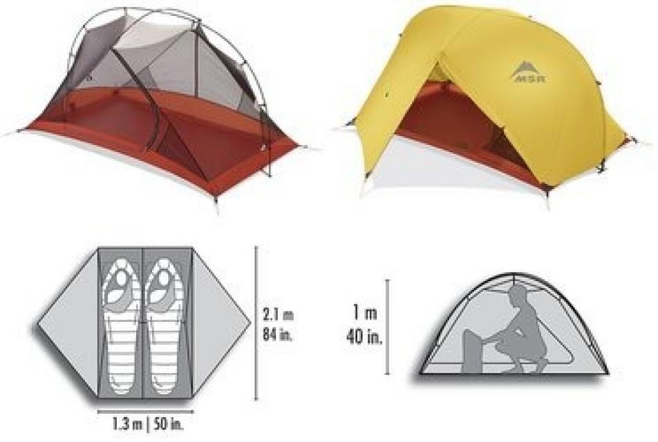 Msr Msr Carbon Reflex 2 Tent With Footprint 285 Tent Msr 3 Season Tent