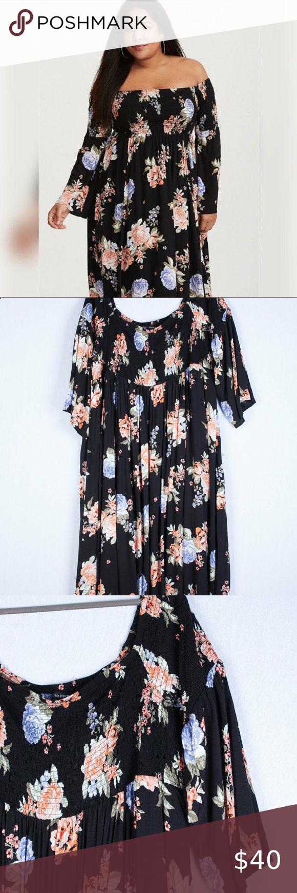 Torrid Floral Smocked Maxi Dress Size 5x Dresses Maxi Dress Womens Maxi Dresses [ 1740 x 580 Pixel ]