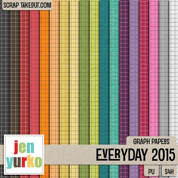 Everyday 2015 {Graph Papers} by Jen Yurko Digiscrap Creative - graph papers