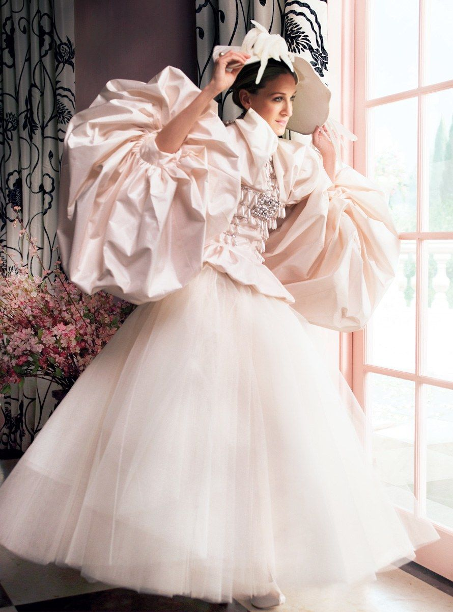 Vogue June 2008 Carrie Bradshaw Wedding Dress Sarah Jessica Parker Wedding Dresses