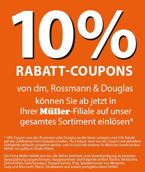 Info Muller 10 Rabattcoupons Von Dm Rossmann Douglas Werden