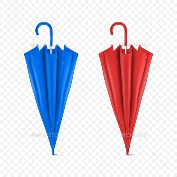 Vector Realistic Render Blue and Red Umbrella #AD #Render, #SPONSORED, #Realistic, #Vector, #Umbrella