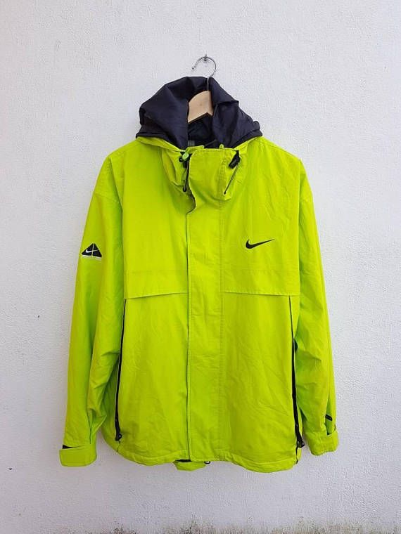 Vintage 90s Neon Green NIKE ACG All Conditions Gear 3 Outer