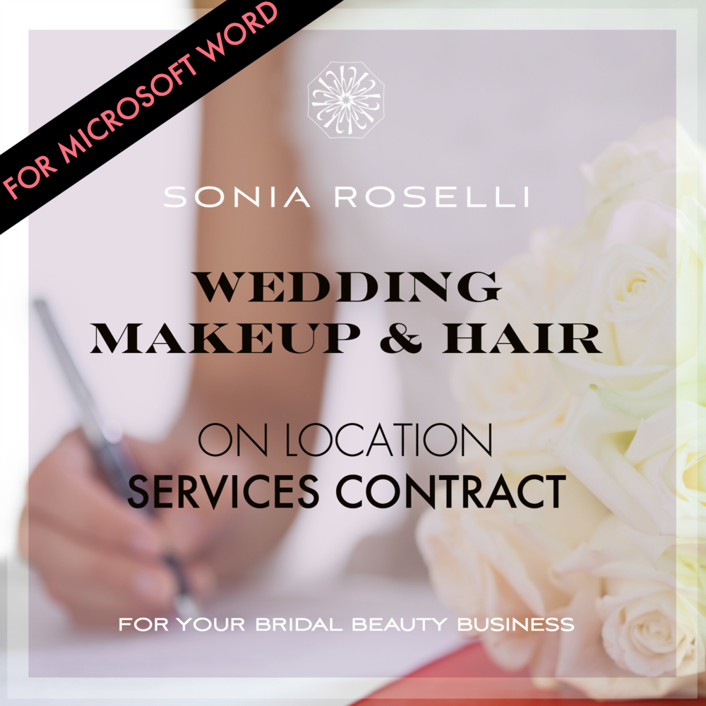 Are You A Makeup Artist That Needs A Wedding Contract Template For